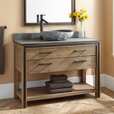 bathroom vanities with sink 48 quot celebration vessel sink vanity rustic acacia