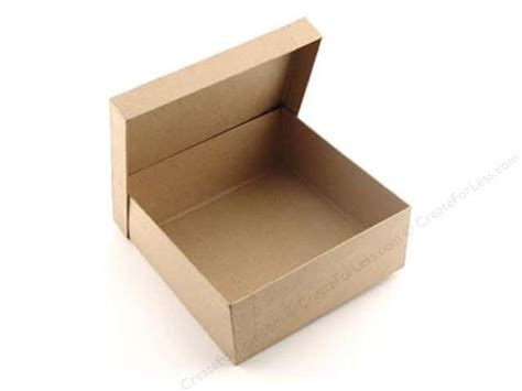 craft paper boxes paper mache square box 7 1 2 in by craft pedlars