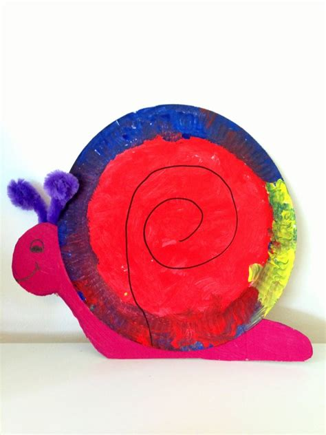 snail paper plate craft crafts actvities and worksheets for preschool toddler and