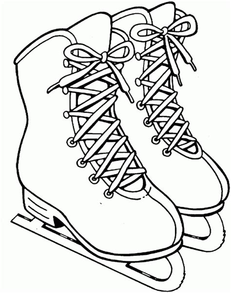 ice skates free printable coloring pages