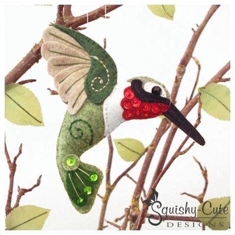 ornament patterns sewing hummingbird sewing pattern bird ornament felt plushie