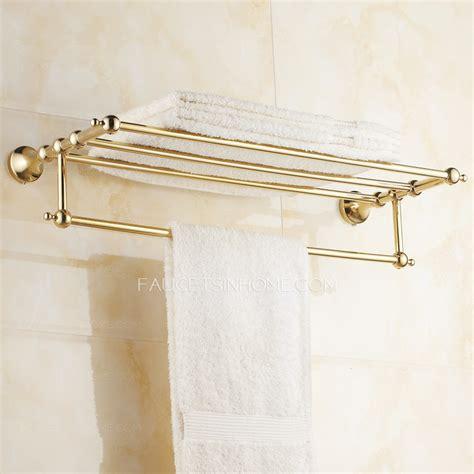 metal bathroom wall shelves gold metal wall mounted bathroom shelf with towel bar