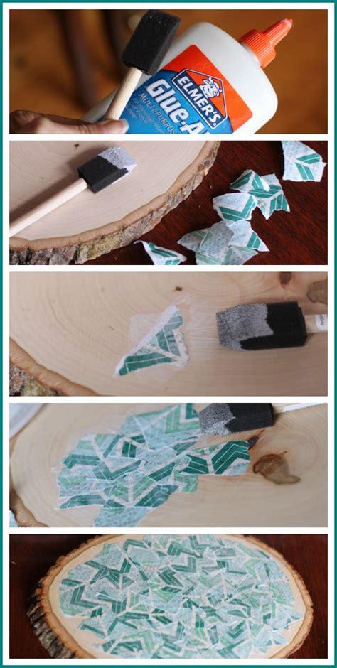 decoupage how to on wood decoupage wood slice sugar bee crafts