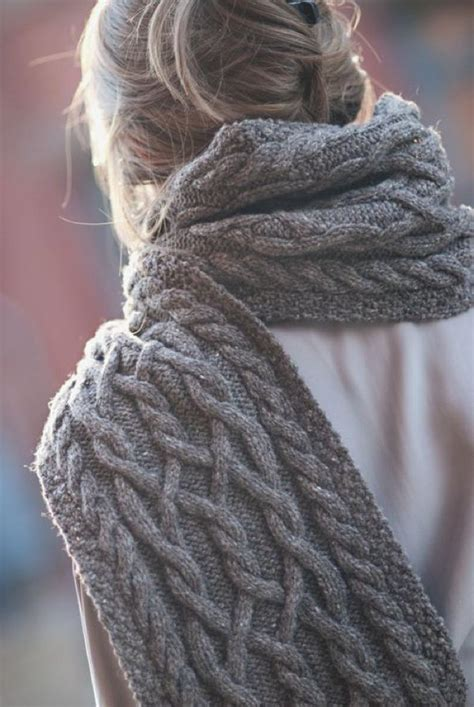 how to knit a cable scarf style tips trendy ways to wear scarves in winter