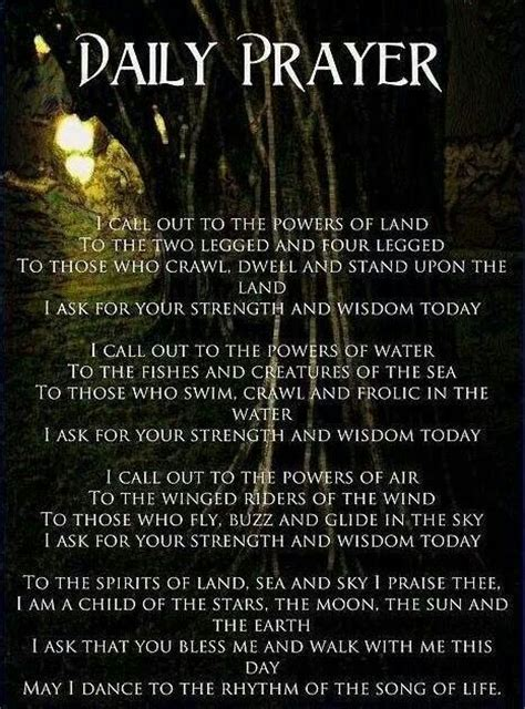 witches prayer daily prayer wiccan daily prayer and