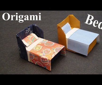 how to make origami bed how to make a doll house bed with bedding origami paper
