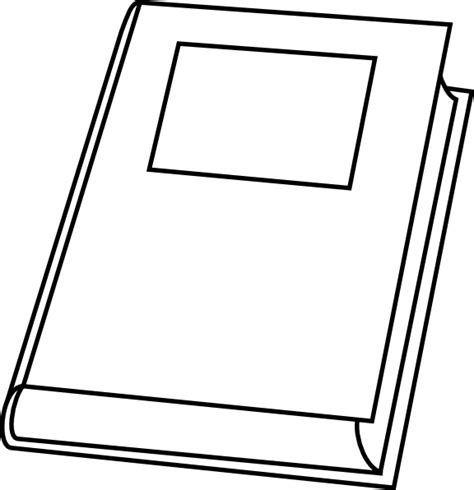 outline picture of a book book outline clip at clker vector clip