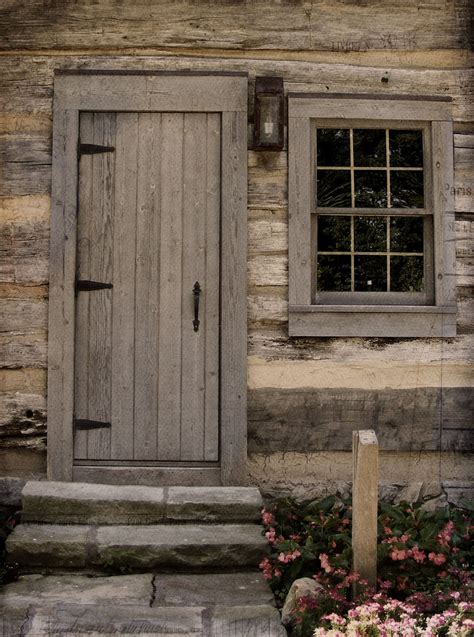 log cabin exterior doors the cottage on the corner texture and surprises