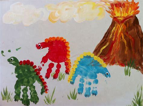 dinosaur arts and crafts for dinosaur handprint crafts for letter dd