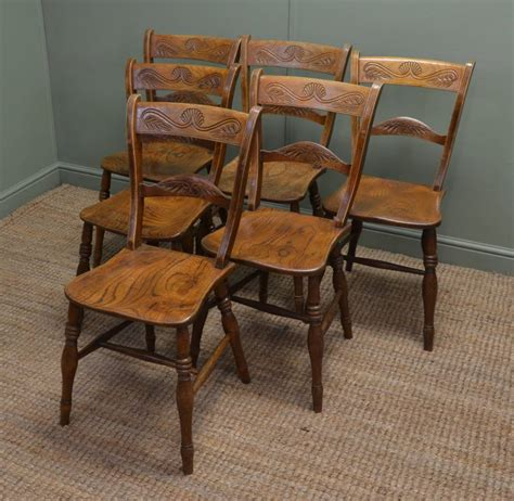 kitchen furniture images set of six elm antique country kitchen chairs antiques world