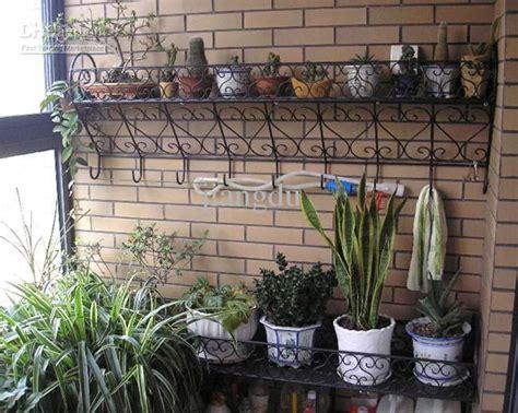 2017 iron wall flower stand flower pot holder outdoor
