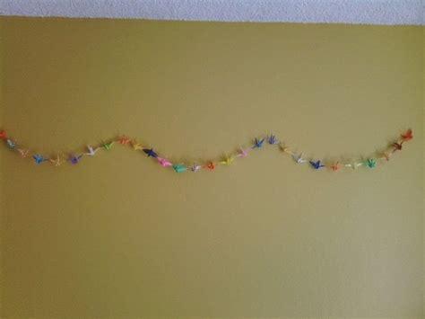 origami chain origami crane chain 183 an origami crane 183 papercraft on cut