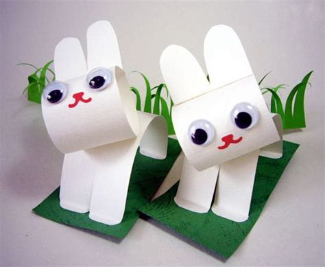 easy crafts to do with construction paper how to make easter bunnies with construction paper and
