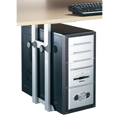 computer tower desk desk computer tower holder silver from conrad