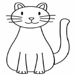 cat simple simple cat drawings clipart best