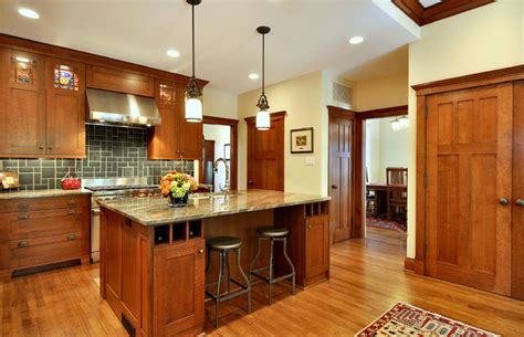 mission style kitchen island craftsman inspired kitchen craftsman kitchen dallas by b sammons