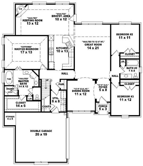 ranch floor plans with split bedrooms house plan split floor plans ranch with bedrooms ideas