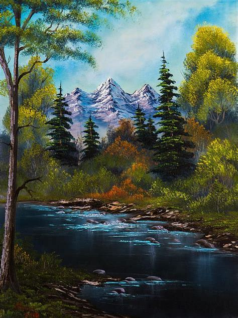 bob ross painting montage fisherman s retreat by c landscapes