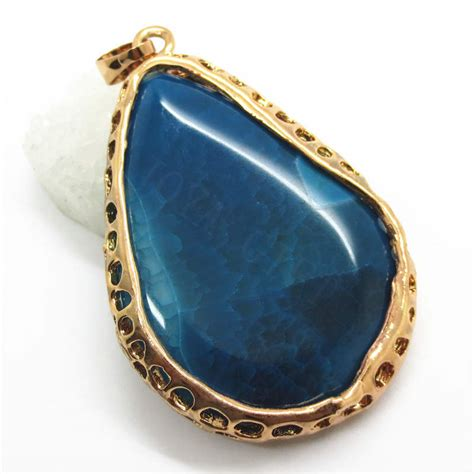 agate stones for jewelry gift gold color wire wrapped agate pendant for