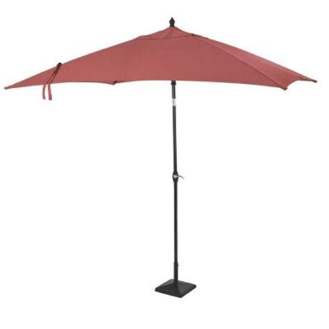 rectangular patio umbrella hton bay woodbury fruit 9 ft rectangular patio