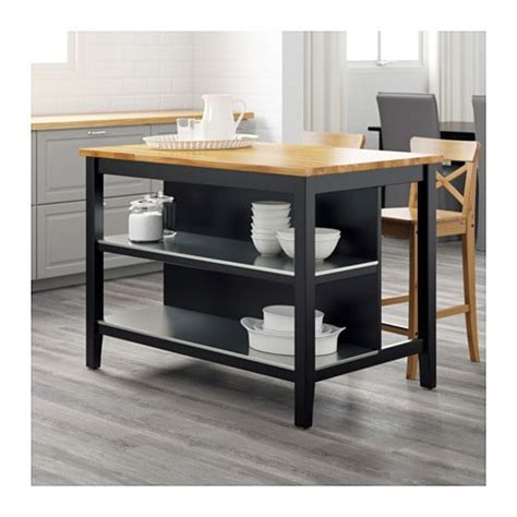 ikea stenstorp kitchen island stenstorp kitchen island black brown oak 126x79 cm ikea