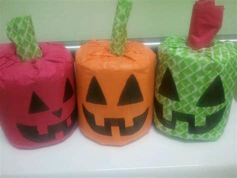 toilet paper pumpkin craft toilet paper pumpkins