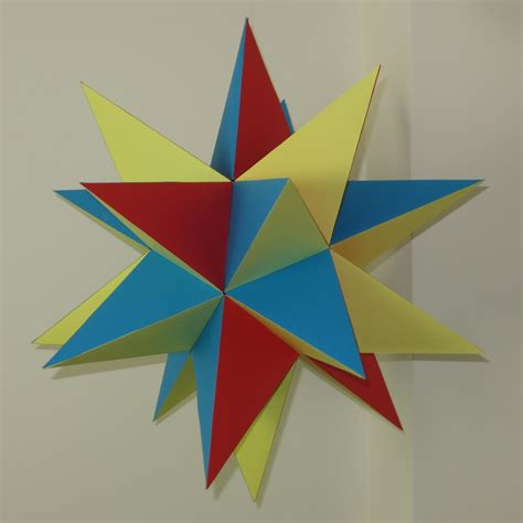 stellated dodecahedron origami paper great stellated dodecahedron