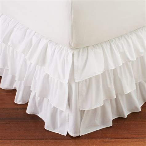 bed skirts ruffle bed skirt bedskirts other metro by pbteen