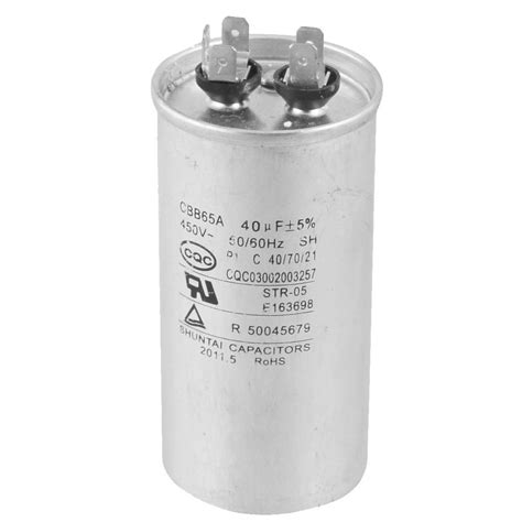 Electric Motor Capacitor by He527 Cbb65a 450v Ac 50 60hz 40uf 5 Electric Motor