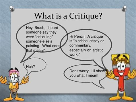 what does in intro to critiquing for