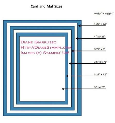 card sizes for card card and mat sizes stin up tutorials