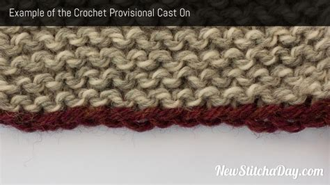 crochet chain cast on for knitting how to knit the crochet provisional cast on