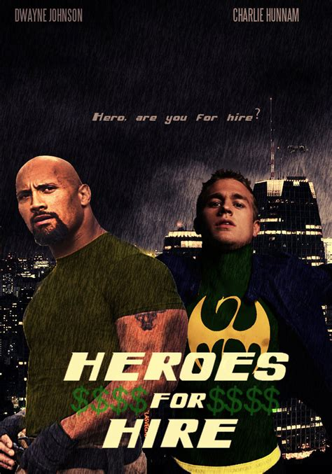 for hire heroes for hire poster by mrchuknoris on deviantart