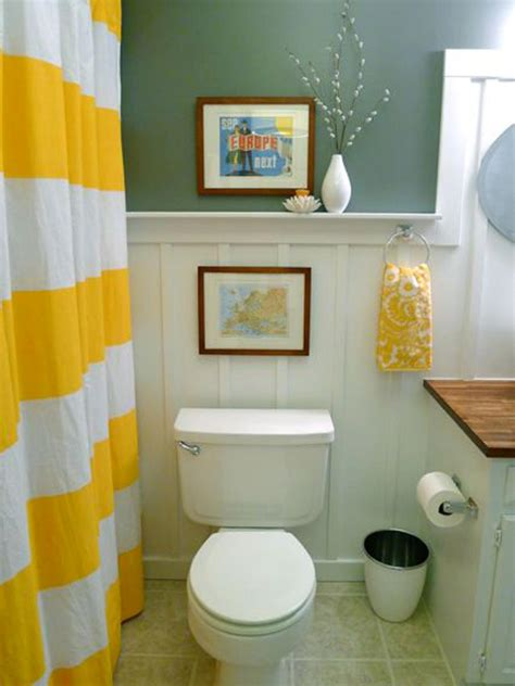 budget bathroom ideas yellow bathroom decor ideas pictures tips from hgtv hgtv