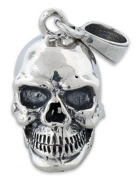 sterling silver skull sterling silver skull pendant