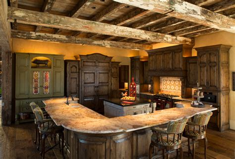 Kitchen Cabinets For Mobile Homes rustic lodge style home rustic kitchen houston by