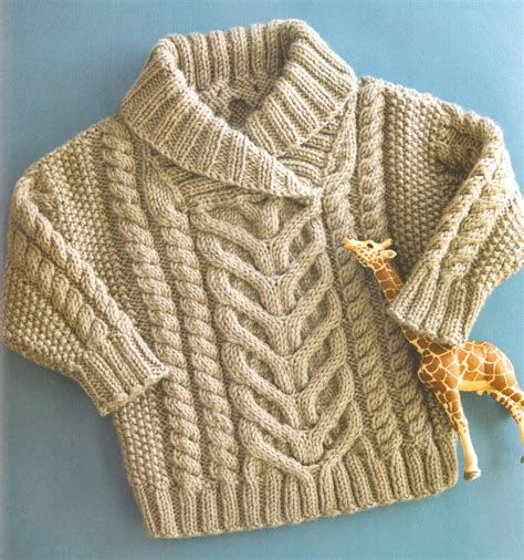 free knitting patterns for aran wool baby aran cable shawl collar 22 quot 26 quot aran