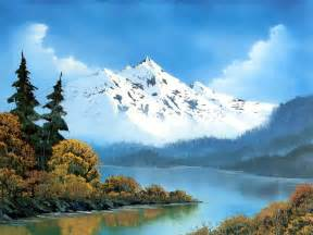 bob ross painting in the of painting with bob ross winter mountains