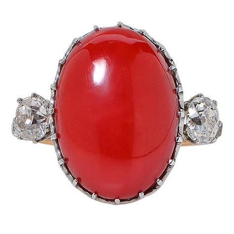 antique coral antique coral and ring at 1stdibs