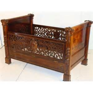 antique baby cribs antique rosewood baby crib by roux for