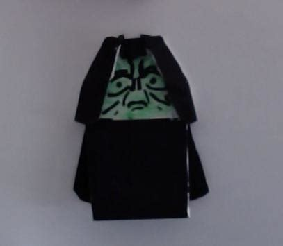 how to make origami emperor palpatine original puppetine origami yoda