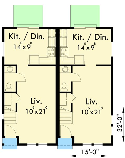 duplex plans for narrow lots duplex for your narrow lot 38006lb architectural