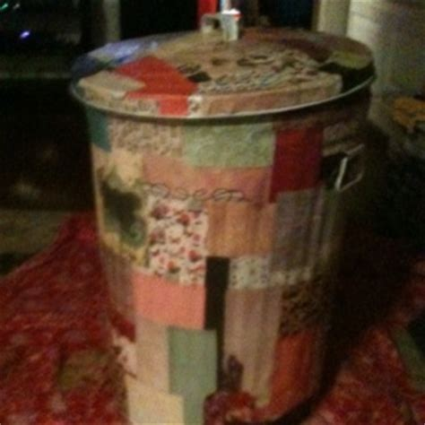 decoupage trash can