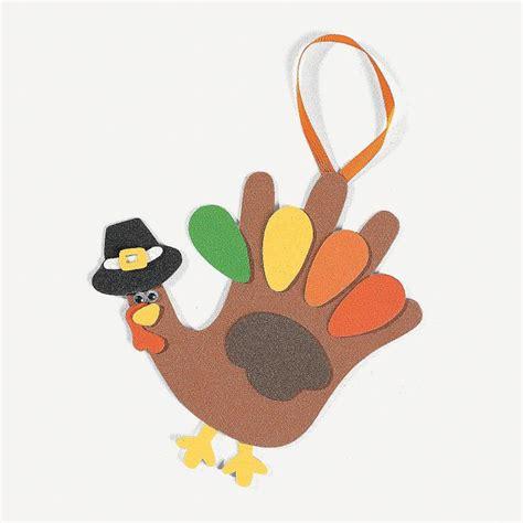 thanksgiving craft kits for handprint turkey craft kit orientaltrading