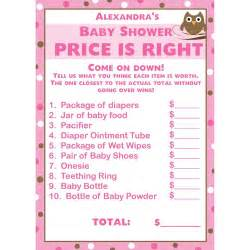 baby shower price is right template pictures to pin on