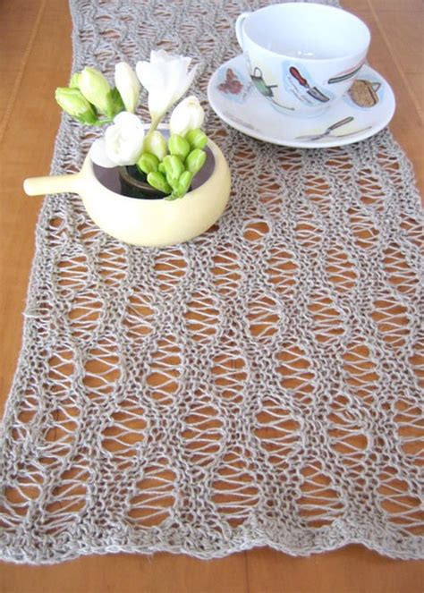 free knitted table runner patterns knit table runners free patterns grandmother s pattern