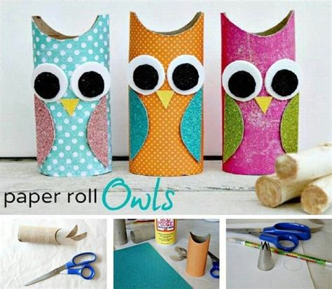 tissue paper roll craft paper roll owls crafts