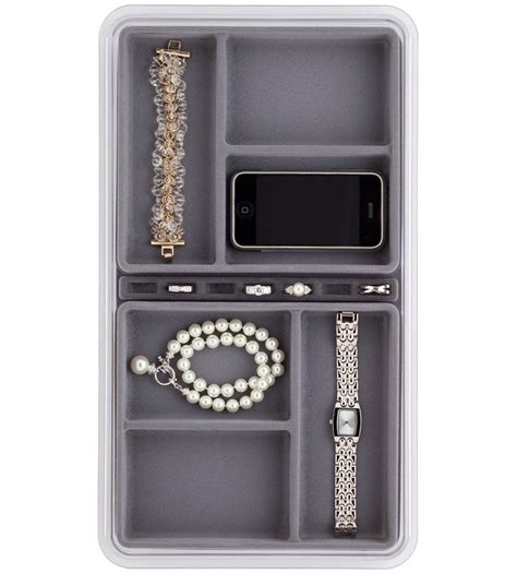 jewelry organizer six compartment jewelry organizer in jewelry trays