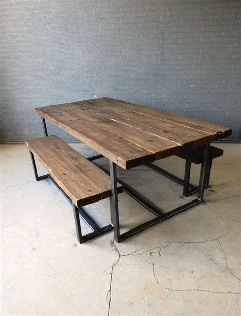 industrial kitchen table furniture houten bank eettafel i my interior