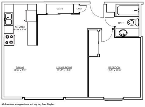 floor plan for 600 sq ft apartment 600 sq ft apartment floor plan thraam